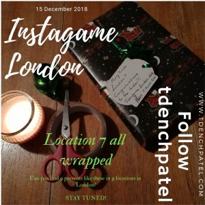 Location 7 all wrapped up London Instagame 2018