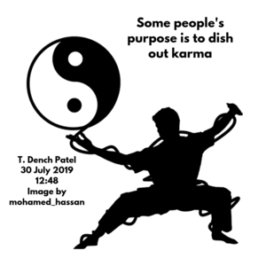 Some people's purpose is to dish out karma