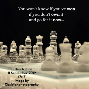 You won't know if you've won if you don't own it and go for it now...