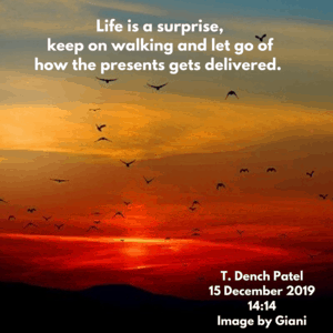 Life is a surprise, keep on walking and let go of how the presents gets delivered.